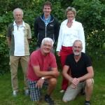Het huidige HFDP-bestuur. Achter (v.l.n.r.) Peter Terpstra, Wessel van Vliet en Geke van Boekel-Bergsma. Voor (v.l.n.r.) Jan Bijlsma en Laurens Reitsma.