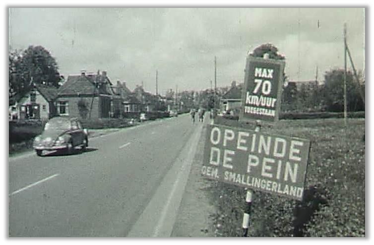 Een screenshot uit de te verschijnen dorpsfilm: Opeinde in het jaar 1966.