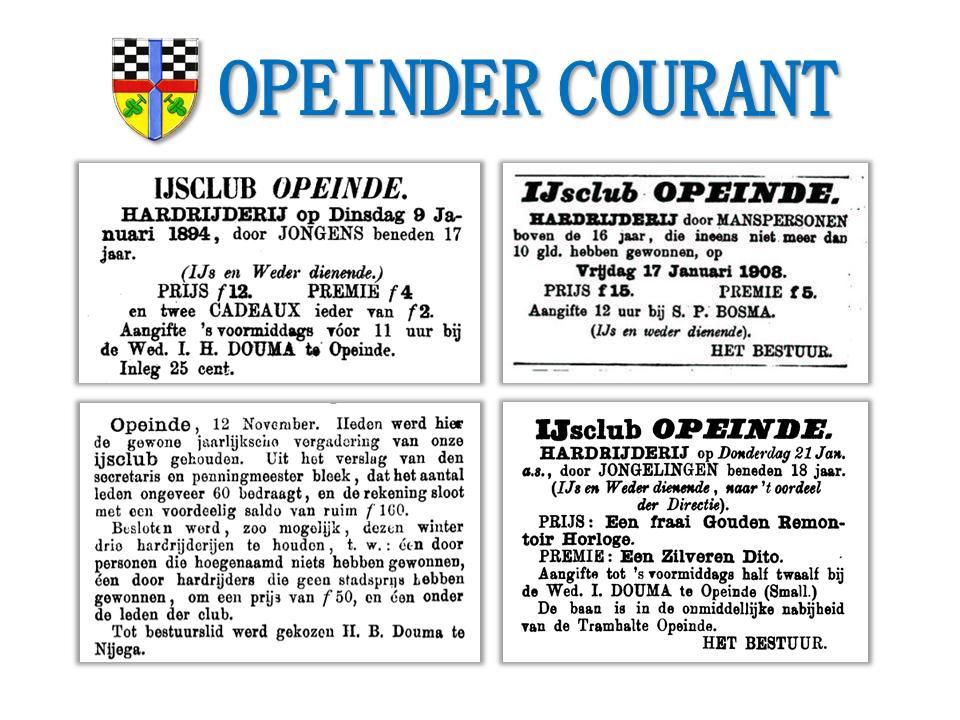 Linksboven: 08-01-1894. Rechtsboven: 16-01-1908. Linksonder: 28-11-1890. Rechtsoner: 18-01-1897. Oorsprong: Leeuwarder Courant.