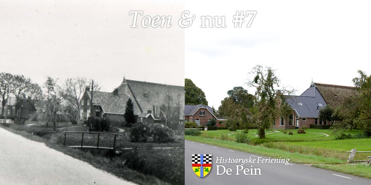 Kommisjewei 161. Foto rechts door Jaap de Vries, foto links afkomstig uit het boekje 'Opeinde uit oude foto's' (2007). Klikken is vergroten.
