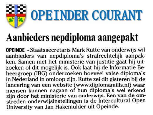 Bron: Leeuwarder Courant van 14-7-2005.